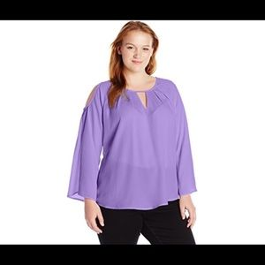 Melissa McCarthy Seven7 Cold Shoulder Top